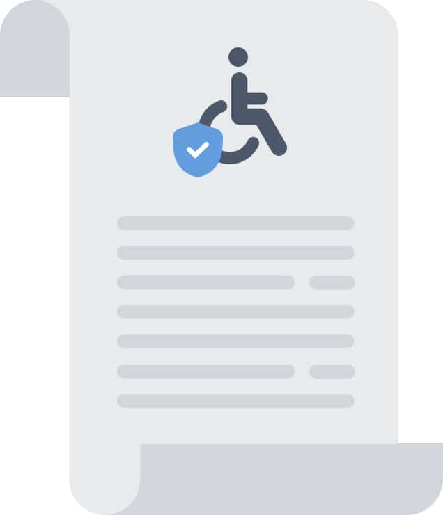 Graphic of a job description compliance law as it relates to employees with disabilities.