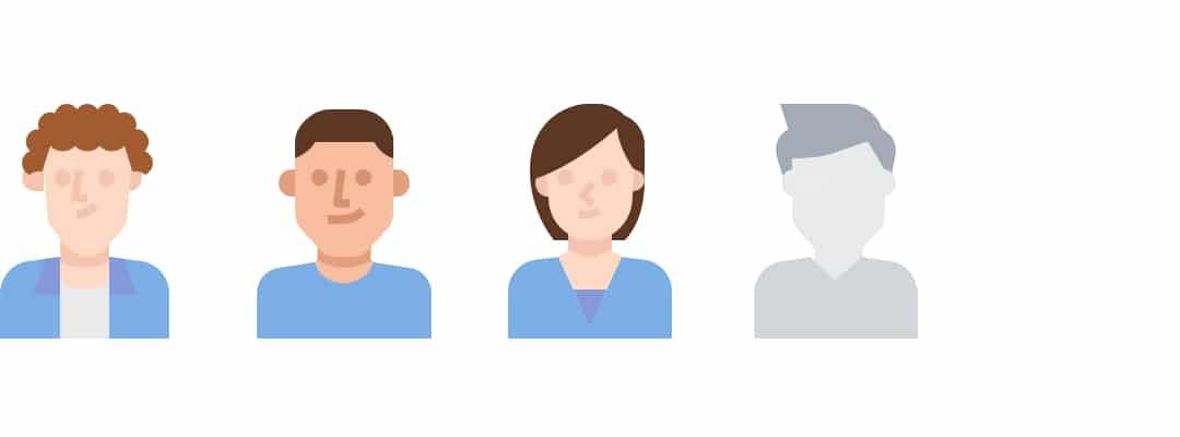 Digital rendering of our representative candidate pool minus two job seekers.