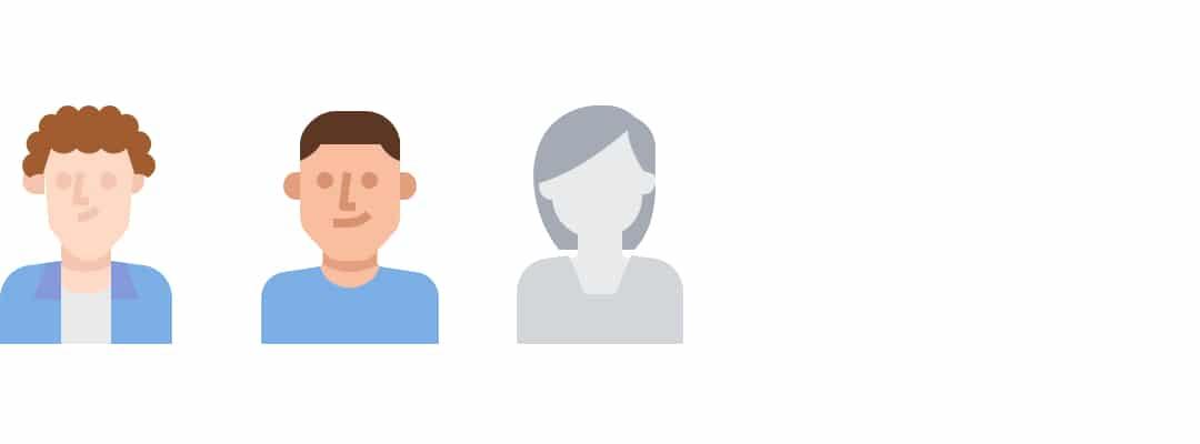 Digital rendering of our representative candidate pool minus three job seekers.